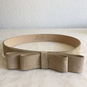 Anthropologie suede bow belt